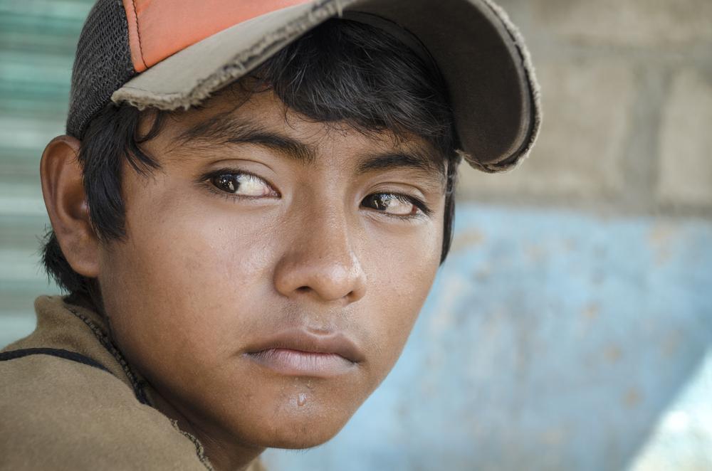 Latin American teen.